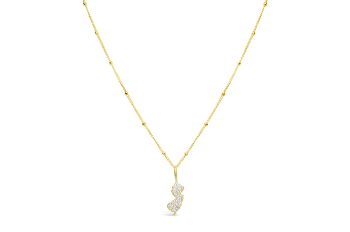 Celebrate NJ! Necklace Pavé NJ