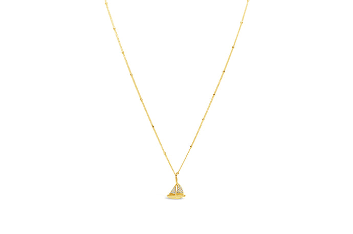 Stia by the Sea Pavé Sailboat Necklace