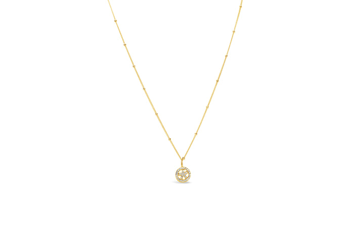 Stia by the Sea Pavé Starfish Circle Necklace