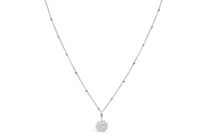 Charm & Chain Necklace Pavé Disk