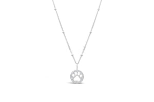 Charm & Chain Necklace Pavé Paw