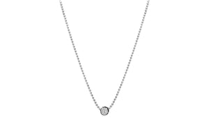 Diamond Cut Pavé Disk Slider Necklace