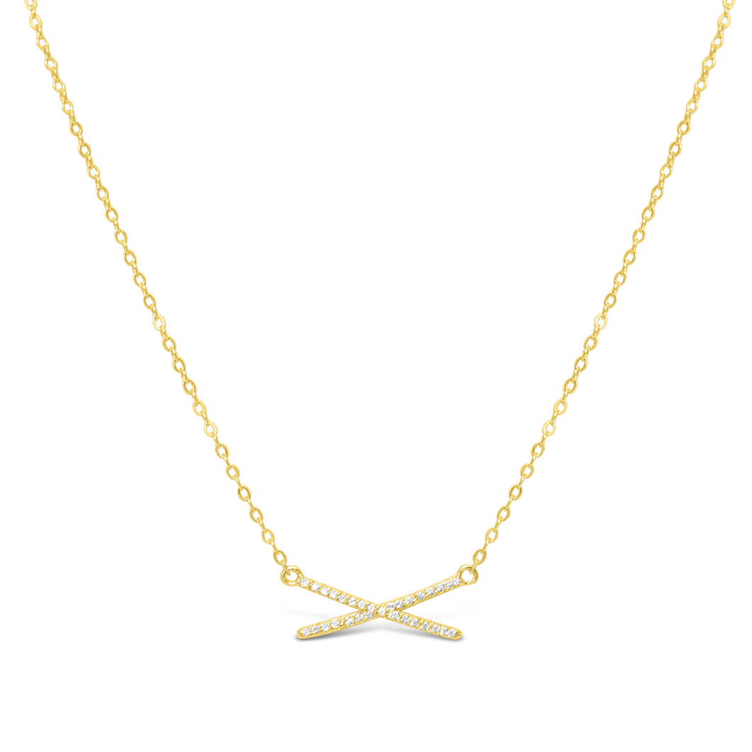 XOXO Chain Necklace Pavé X
