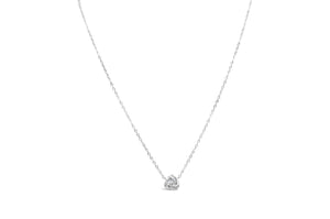 Icon Necklace Pavé Love Knot