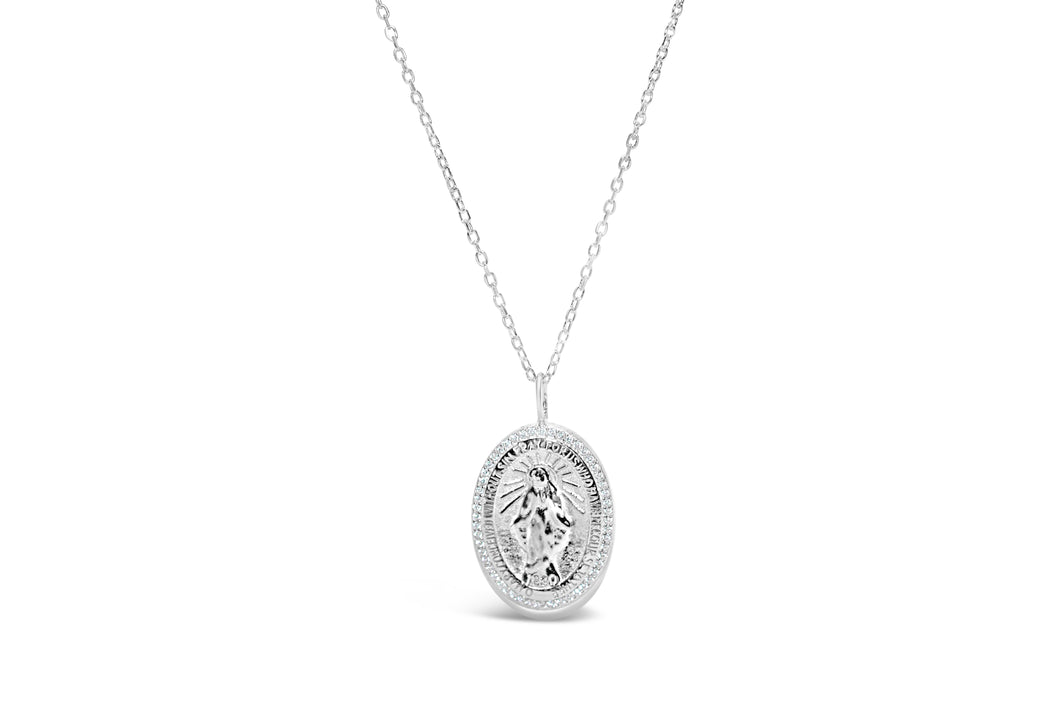 Mother Mary Pavé Icon Necklace