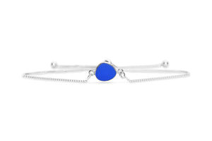 Stia by the Sea Cobalt Sea Glass Pull Cord Bracelet