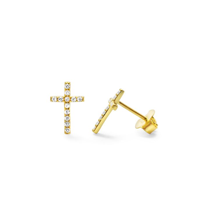 Pavé Cross Stud