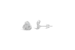 """Pretty Party"" Earring Pavé Love Knot Stud"