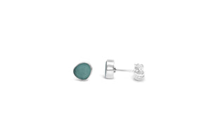 Stia by the Sea Aqua Sea Glass Stud Earring