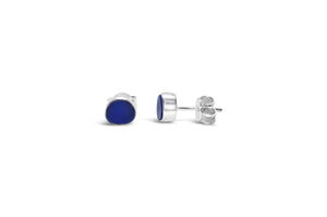 Stia by the Sea Cobalt Sea Glass Stud Earring