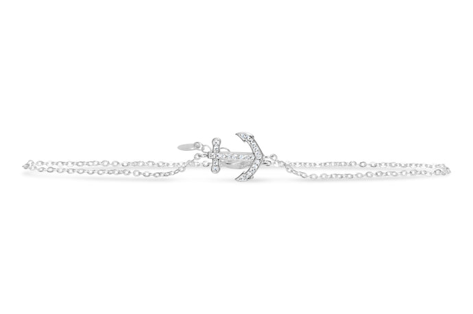 Luxe Leg Anklet Pavé Anchor