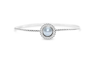 Power of Attraction Bracelet Rope Bezel White Pearl