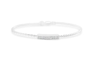 Power of Attraction Bracelet Pavé Double Bar