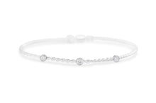 Power of Attraction Bracelet 3 Stone CZ