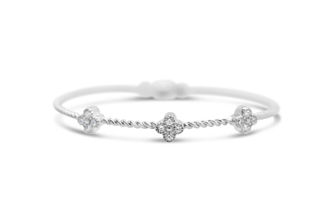 Power of Attraction Bracelet Pavé 3 CZ Clover
