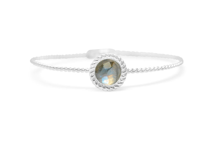 Power of Attraction Bracelet Rope Bezel Labradorite