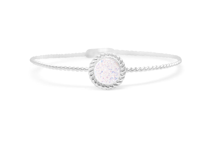 Power of Attraction Bracelet Rope Bezel Opal Druzy