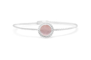 Power of Attraction Bracelet Rope Bezel Dusty Rose Monalisa