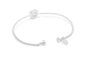 Power of Attraction Bracelet Rope Bezel Platinum Silver Druzy