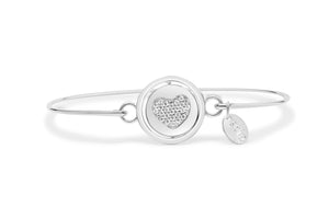 """Love"" Pavé Heart Axis Bracelet"