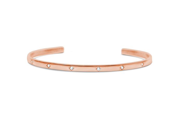 Crystal Cuff Rose Gold