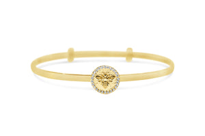 Slide To Size Bracelet Pavé Queen Bee