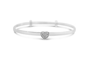 Slide To Size Bracelet Pavé Heart