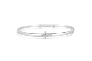 Slide To Size Bracelet Pavé Cross
