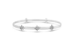 Slide To Size Bracelet Pavé Terrific Trio Starburst