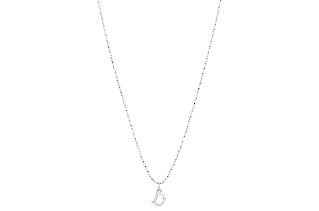 Diamond Cut Love Letter Necklace