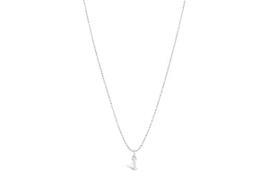 "Diamond Cut Love Letter Necklace ""E"""