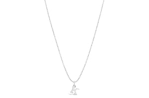 "Diamond Cut Love Letter Necklace ""D"""