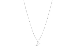 "Diamond Cut Love Letter Necklace ""S"""