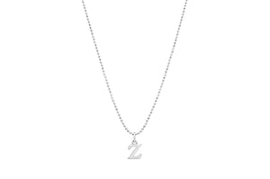 "Diamond Cut Love Letter Necklace ""P"""