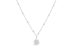 "Pavé Love Letter Necklace ""B"""