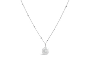 "Pavé Love Letter Necklace ""C"""
