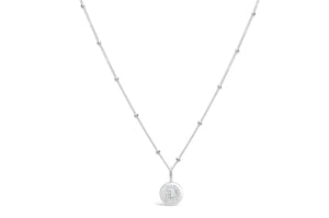 "Pavé Love Letter Necklace ""D"""