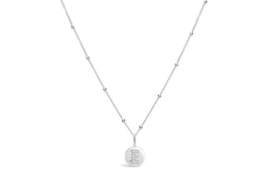 "Pavé Love Letter Necklace ""E"""