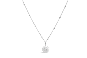 "Pavé Love Letter Necklace ""G"""
