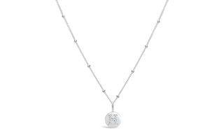 "Pavé Love Letter Necklace ""H"""