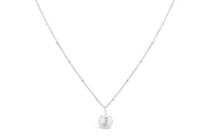 "Pavé Love Letter Necklace ""J"""