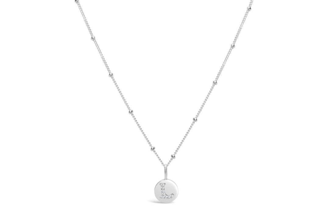 Pavé Love Letter Necklace