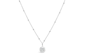 "Pavé Love Letter Necklace ""M"""