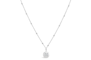 "Pavé Love Letter Necklace ""N"""