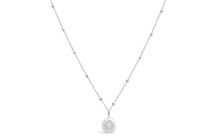 "Pavé Love Letter Necklace ""O"""