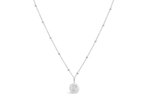 "Pavé Love Letter Necklace ""P"""