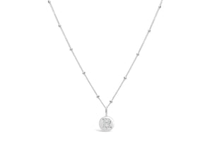 "Pavé Love Letter Necklace ""R"""