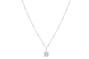"Pavé Love Letter Necklace ""S"""