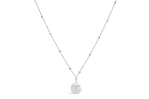 "Pavé Love Letter Necklace ""T"""