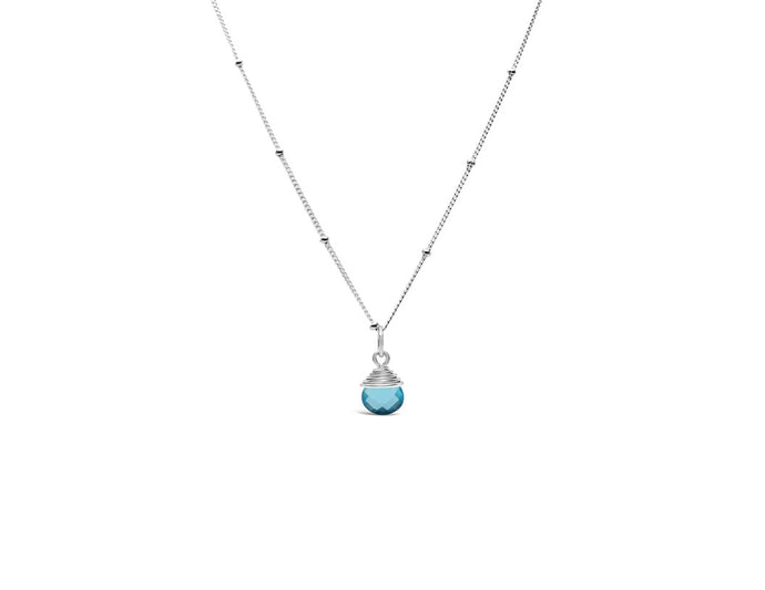 Precious Wraps Necklace Aqua Quartz